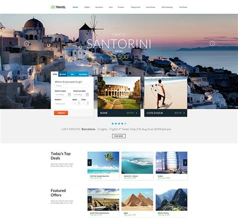 Html5 Travel Templates 25 responsive bootstrap 3 html website templates web