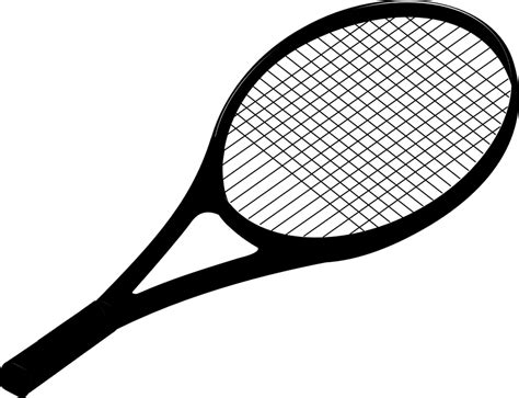 Racket Outline by Free Vector Graphic Racket Racquet Tennis Black Free Image On Pixabay 296859