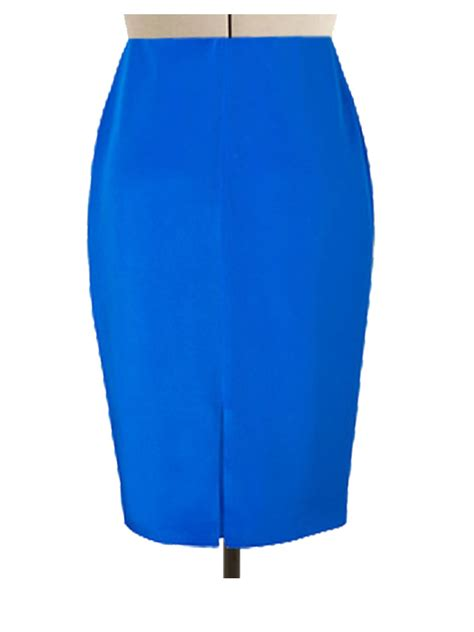 sky blue pencil skirt elizabeth s custom skirts