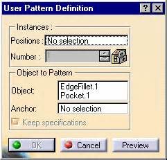 user pattern definition catia user pattern