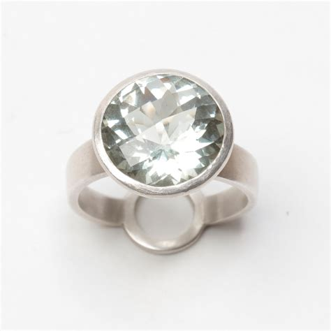 Standing Ring green amethyst standing ring monaghan