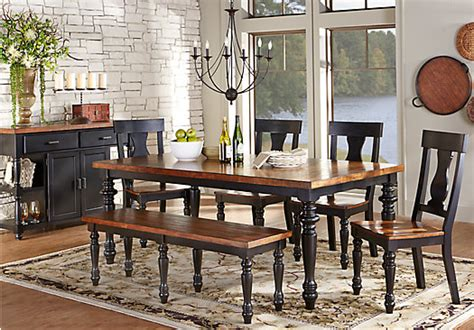 Cottage Dining Room Sets - hillside cottage black 5 pc dining room dining room sets