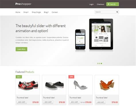 ecommerce html template 33 free and premium html css ecommerce website templates
