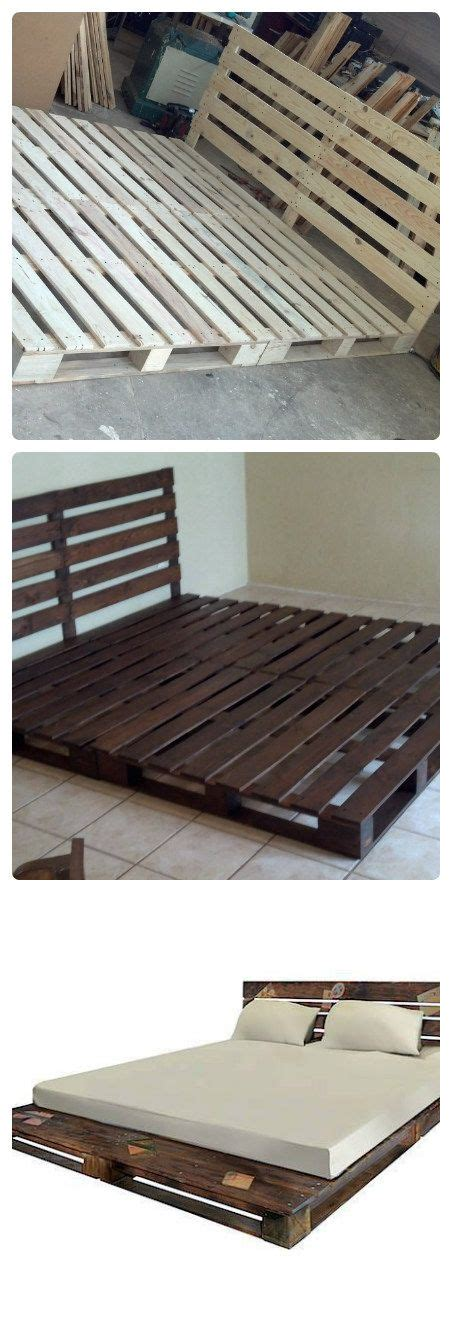 how to make a futon frame directions 25 best ideas about pallet platform bed on pinterest