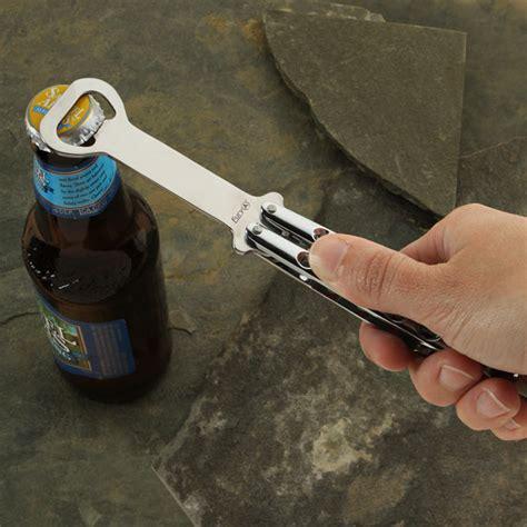 butterfly knife bottle opener butterfly knife styled bottle opener the green