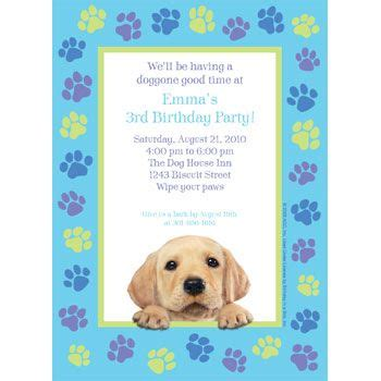 puppy birthday card template 17 best images about themed birthday ideas on