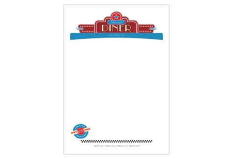 Restaurant Letterhead Templates Free by American Diner Restaurant Print Template Pack From Serif