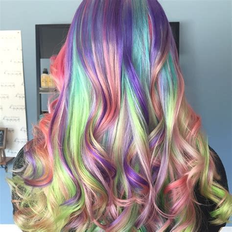 rainbow color hair ideas 5 self mixoligized pravana shades block colored hair