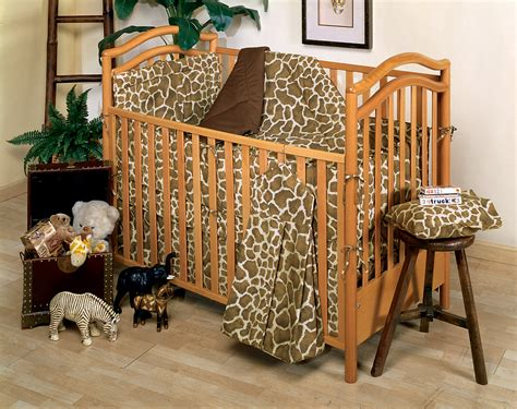 Giraffe Crib Bedding Giraffe Print Crib Bedding Designer Gender Neutral Giraffe Animals Print Baby Boy Or