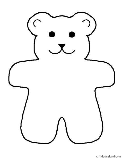 Template For A Teddy best photos of template printable teddy