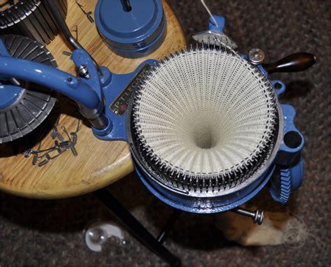 restored sock knitting machines blue powder coated legare 400 sock knitting machine for sale