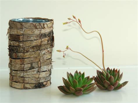 Birch Bark Vase by Birch Bark Vases Wedding Flower Pot Rustic Chic By Aniamelisa