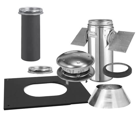 chiminea flue kit metalbest ultra temp 6 inch diameter chimney pipe pitched