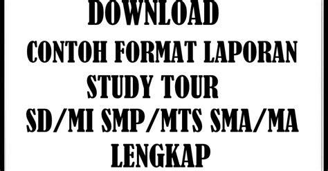 contoh format evaluasi diri guru sd download contoh format laporan study tour semua jenjang
