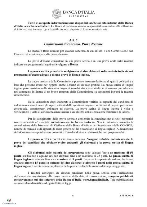 Banca D Italia Concorso by Concorso 60 Coadiutori Banca D Italia