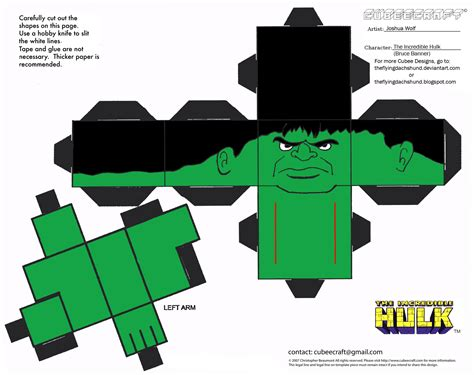 Marvel Papercraft - marvel 1 cubee by theflyingdachshund on deviantart