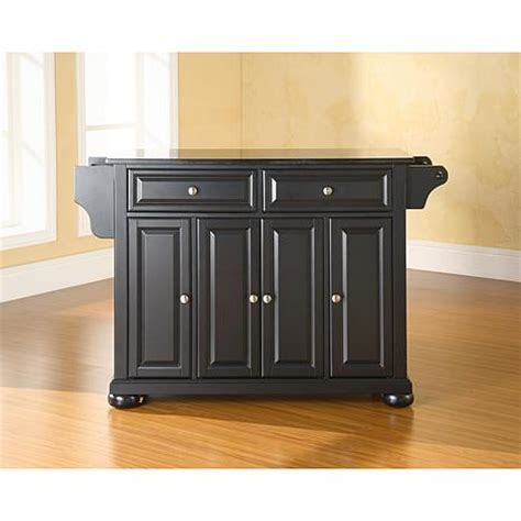 kitchen island black crosley alexandria solid black granite top kitchen island
