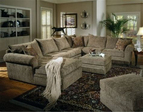 Sectional Sofa With Oversized Ottoman Chenille Fabric Oversized Sectional Sofa With Matching Ottoman Living Rooms