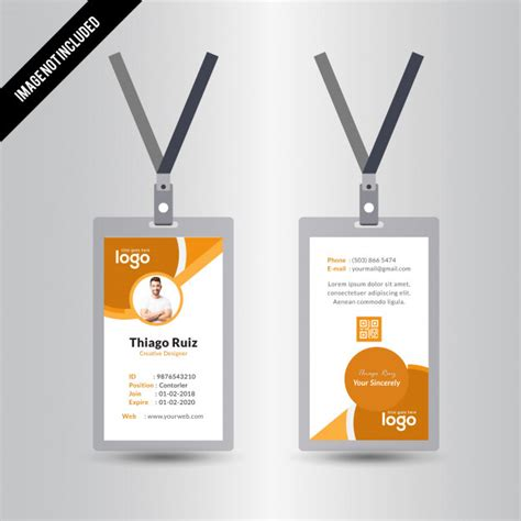 id card design template ai simple yellow vector id card design template vector