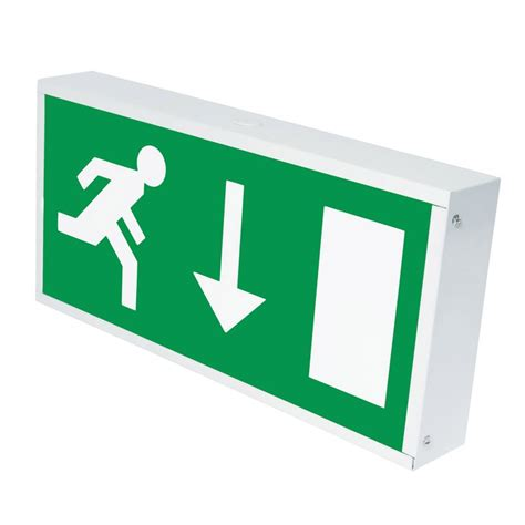 exit sign light box eterna 8w emergency exit box sign lyco