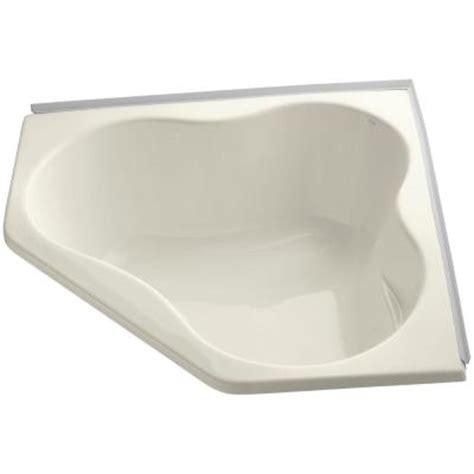 kohler corner bathtub kohler 4 5 ft front drain corner soaking bathtub in