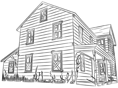 printable house images house coloring pages 2