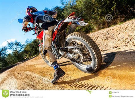 Spinning Bike Sport Id 9 2n motocross bike taking on dirt road stock photo