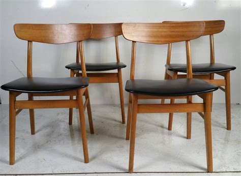 danish modern dining room furniture set of four danish modern dining chairs at 1stdibs