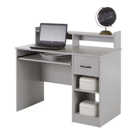 Gray Computer Desk by South Shore Axess Computer Desk In Soft Gray 10138