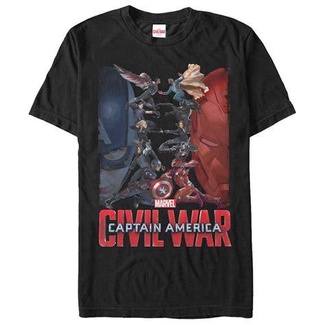 Kaosbajut Shirt Civil War captain america civil war opposition t shirt