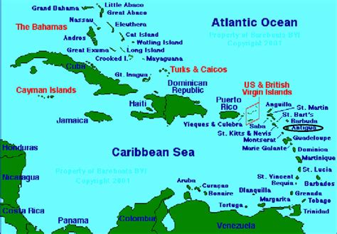 map of caribbean with country names may 2012