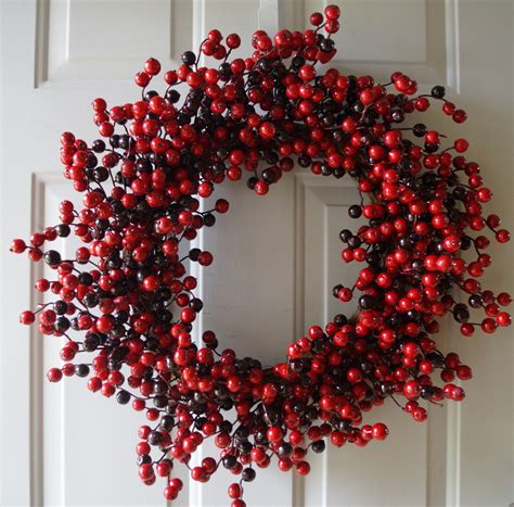 winter wreath holiday wreath fall red berry wreath