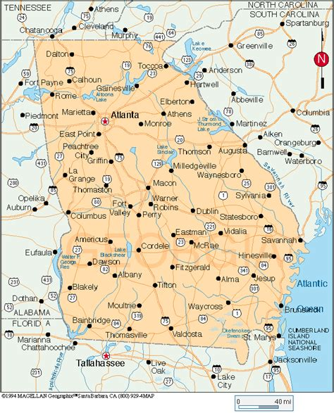ga map cgrounds and rv parks