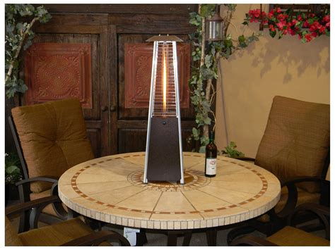 az patio heaters portable bronze glass patio heater