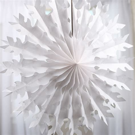 large hanging snowflake tissue fan snow snowflakes