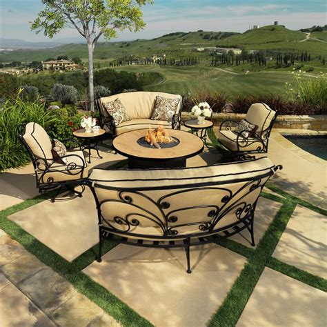 ow lee ashbury patio set with fire pit furniture for patio