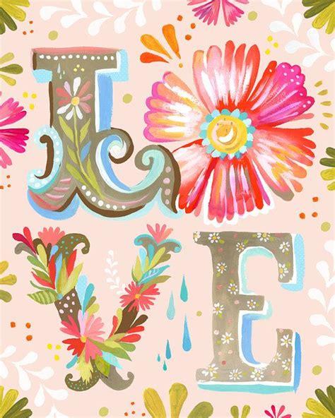 Postkarten Drucken Epson by Love Block Letter Vertical Print Watercolor Nursery Art