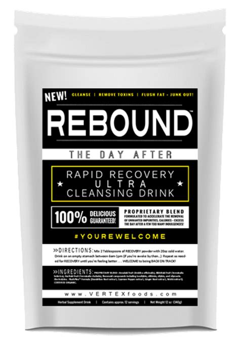 Rapid Clear Detox Drink Reviews by Rebound Day After Rapid Recovery Cleanse