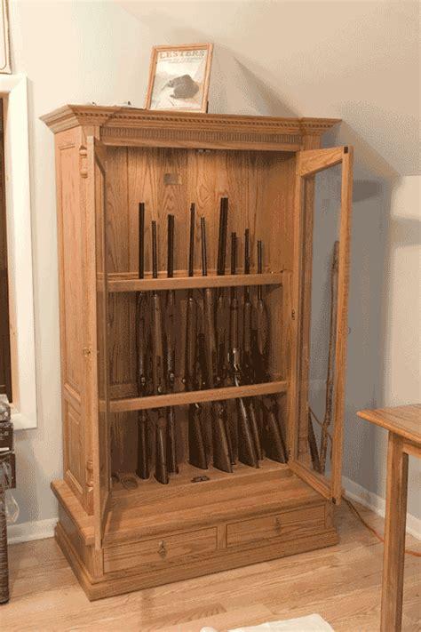 Woodloft.com   Oak Short Custom Gun Cabinet