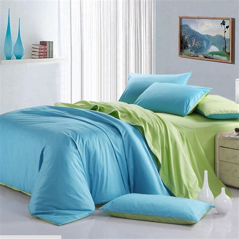 solid color bedding set queen king size 4pcs 100 cotton