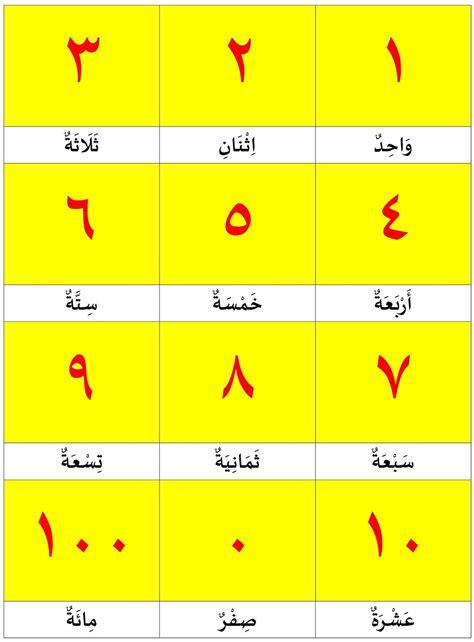 Angka 8 Gambar Dalam angka 1 100 dalam bahasa arab belajar bahasa arab