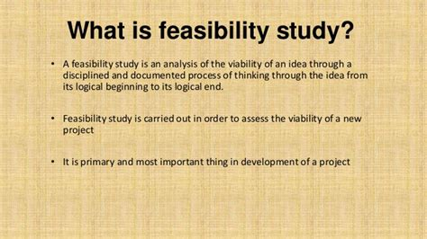 feasibility report basic concepts with exle