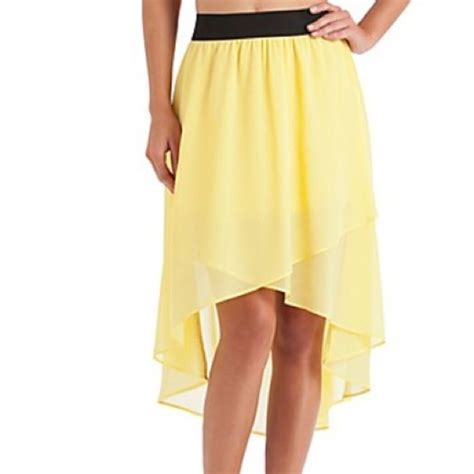 guess guess yellow high low skirt from s closet