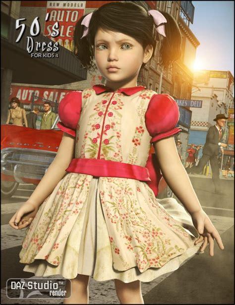 pimpandhost kids 50 s dress for kids 4 clubwear dresses for daz studio