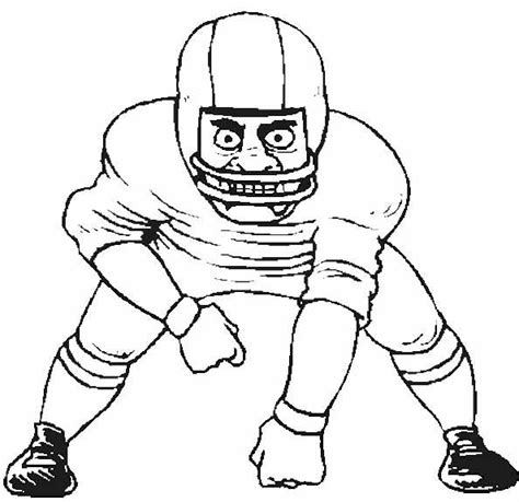 Free Coloring Pages Of American Football Players Football Player Color Pages