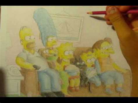 The Simpsons Couch Gag Drawing Youtube