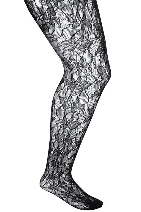 leaf pattern tights black leaf patterned lace tights plus size 16 to 36
