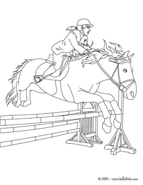 woman on jumping horse coloring pages hellokids com