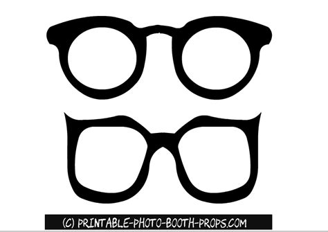 free printable photo booth props black and white free printable glasses photo booth props