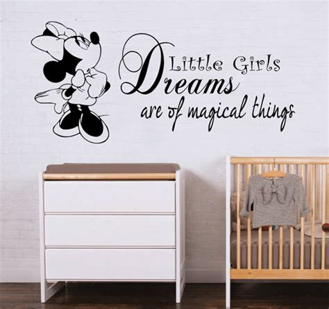 kids bedroom quotes minnie mouse wall sticker quote disney girls bedroom art